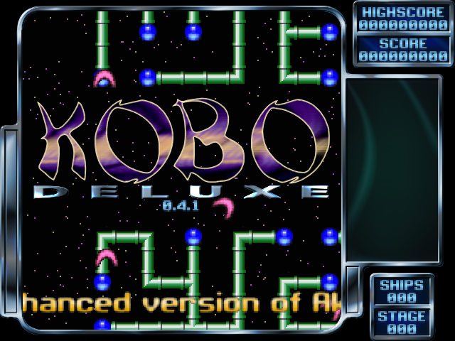 Title screen from Kobo Deluxe
