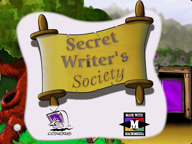 Title screen from Secret Writer's Society