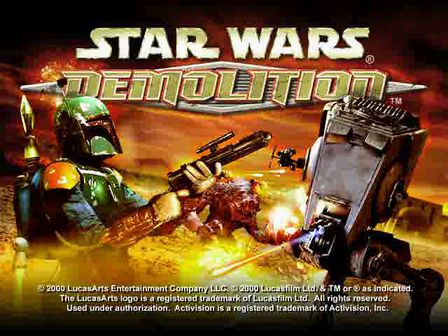 Title screen from Star Wars: Demolition