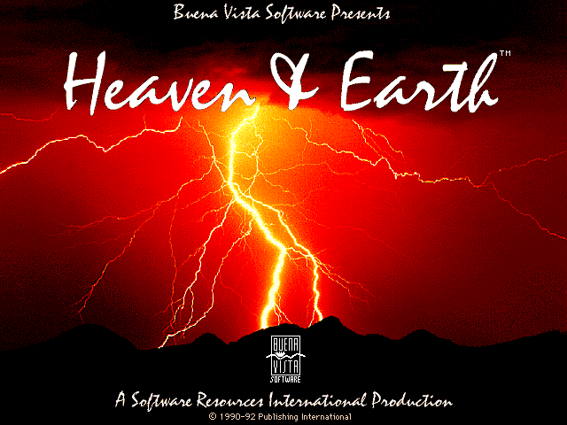Title screen from Heaven & Earth