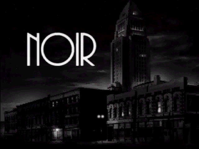 Title screen from Noir: A Shadowy Thriller