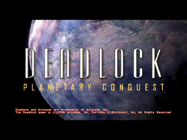 Title screen from Deadlock: Planetary Conquest