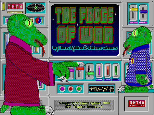 Title screen from The Frogs Of War