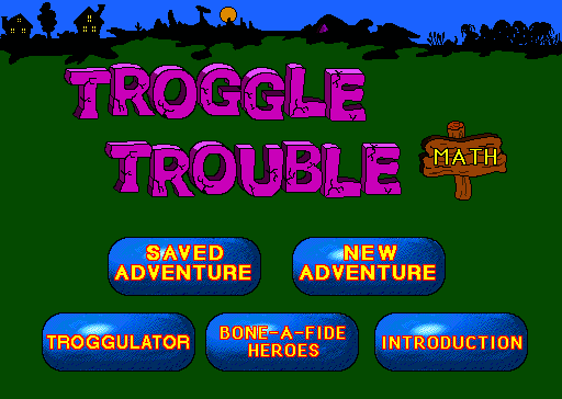 Title screen from Troggle Trouble Math