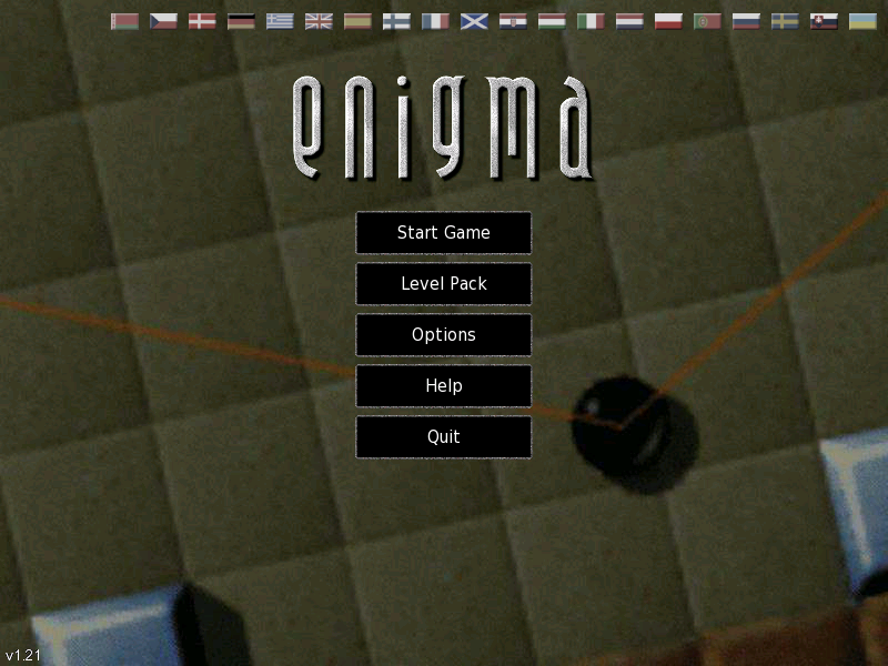 Title screen from Enigma