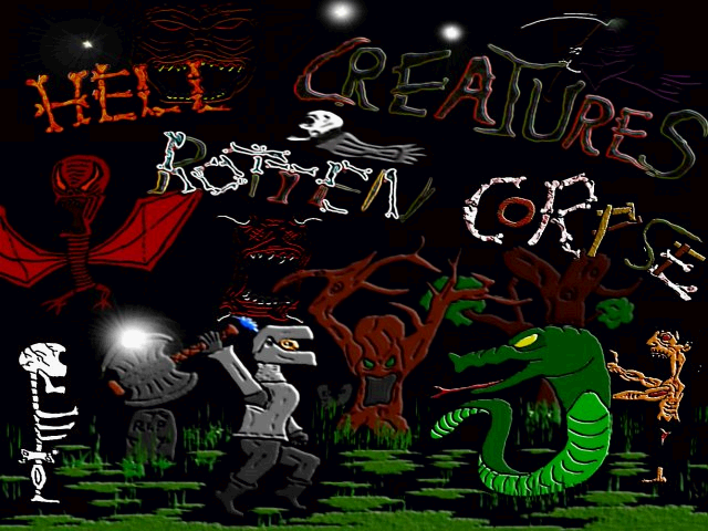 Title screen from Hell Creatures Rotten Corpse