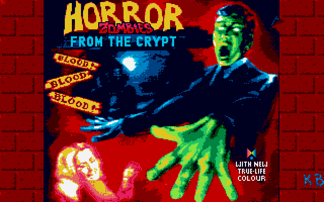 Title screen from Horror Zombies from the Crypt