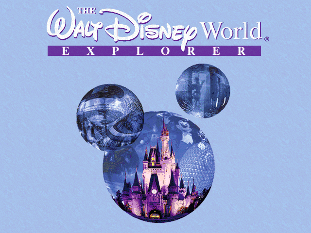 Title screen from The Walt Disney World Explorer CD-ROM