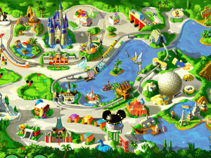 Screenshot from The Walt Disney World Explorer CD-ROM