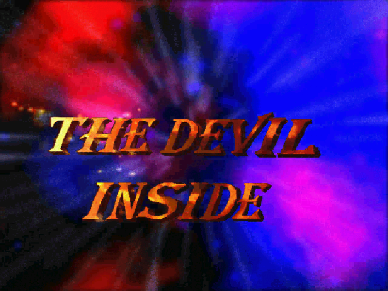 Title screen from The Devil Inside