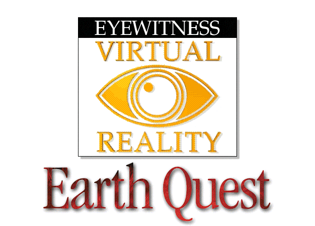 Title screen from Eyewitness Virtual Reality Earth Quest