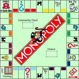 Empty board from Monopoly (1991)