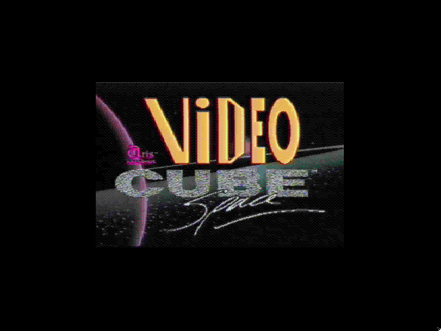 Title screen from Video Cube: Space