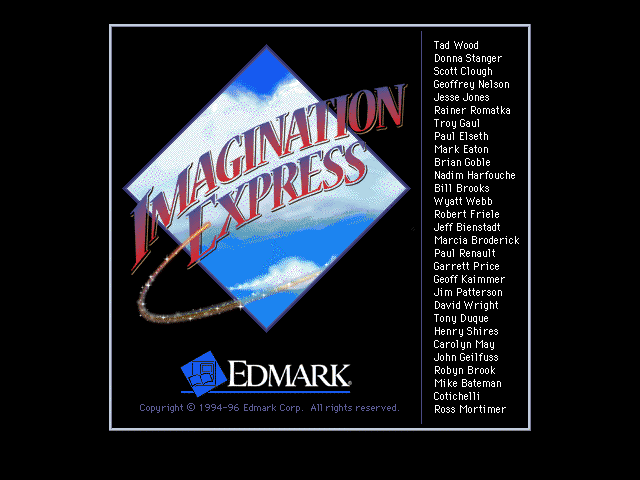 Title screen from Imagination Express