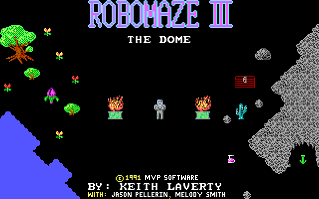 Title screen from Robomaze III
