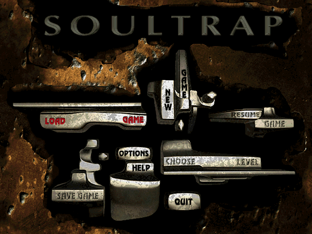 Menu screen from SoulTrap