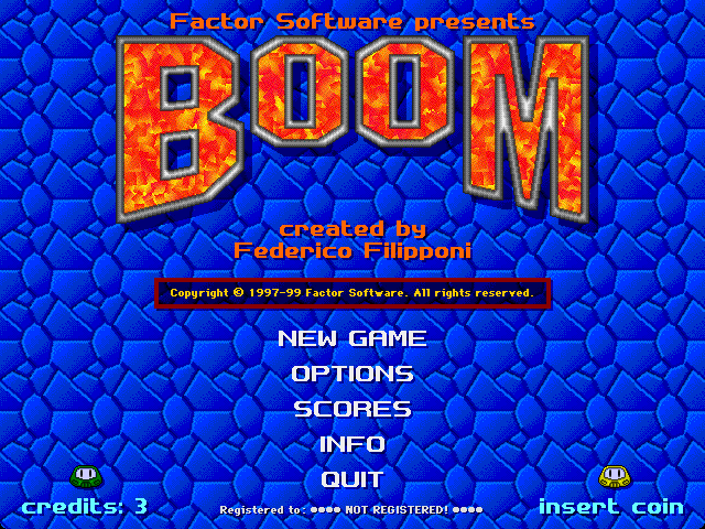 Title screen from Boom