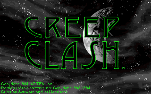 Title screen from Creep Clash