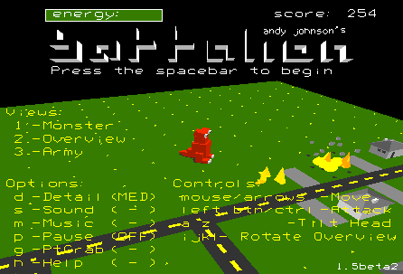 Title screen from battalion
