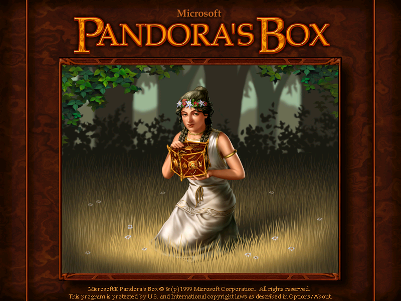 Title screen from Pandora's Box