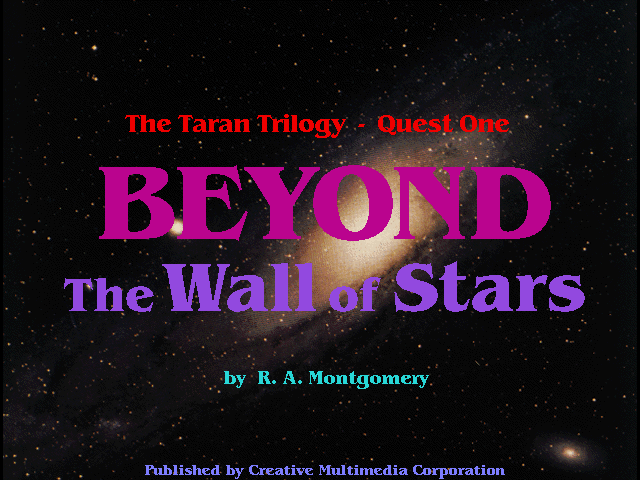 Title screen from Beyond the Wall of Stars