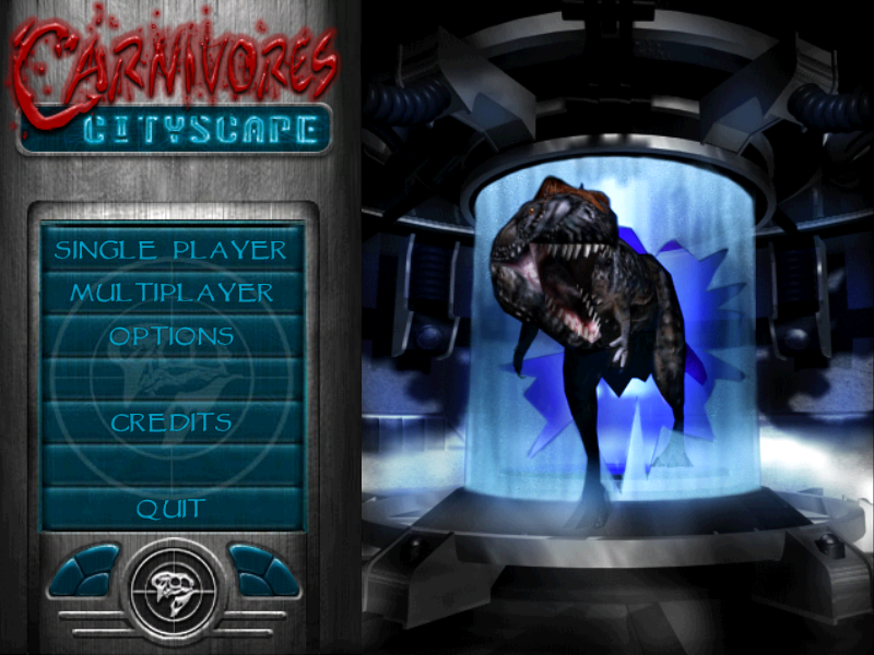 Title screen from Carnivores: Cityscape