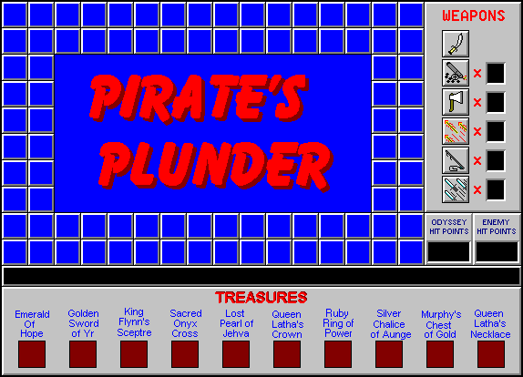 Title screen from Pirate's Plunder