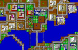 Boston scenario from SimCity for Windows.