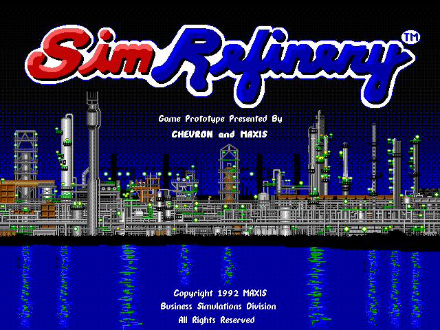 Title screen from SimRefinery