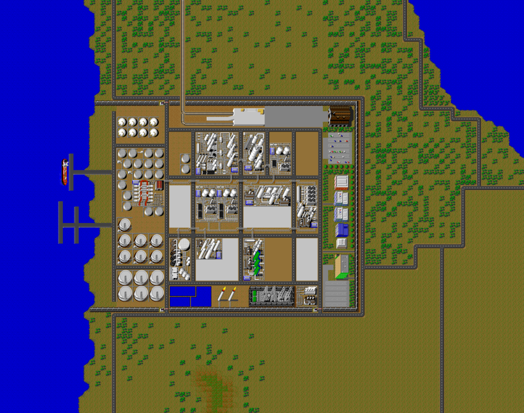Full map of SimRefinery