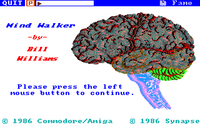 Title screen from Mind Walker