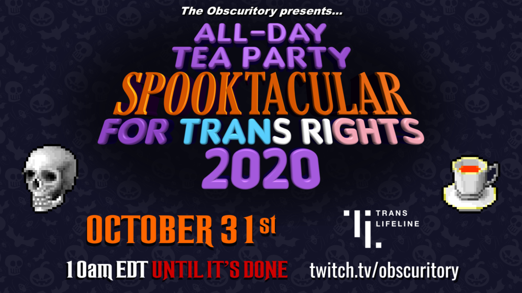 All-Day Tea Party Spooktacular for Trans Rights 2020 banner