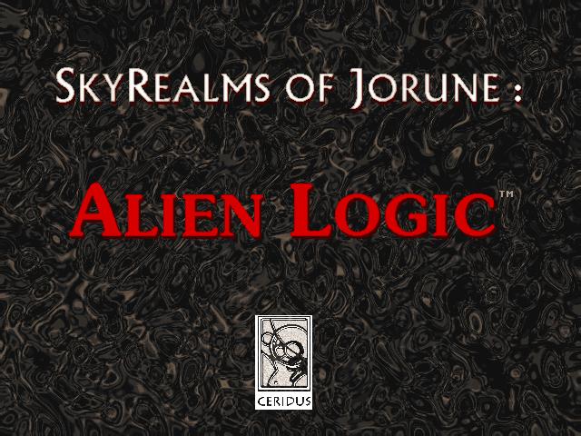 Title screen for Alien Logic