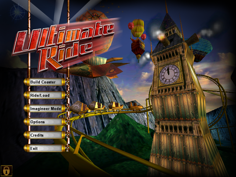 Title screen from Ultimate Ride