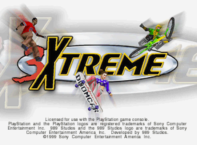 Title screen from 3xtreme